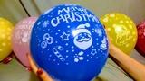 HOLIDAY CHRISTMAS BALLOONS POP!!!