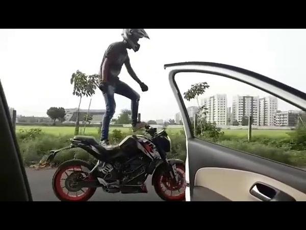 Kiki challenge kiki do you love me bike stunt performed awesome