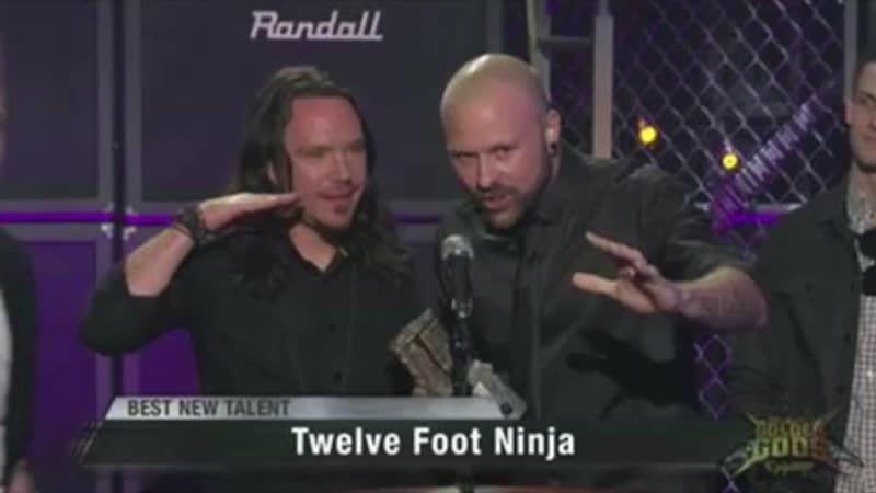 Twelve Foot Ninja - Nik Kin Etik Steve Stevic Mackay Celebrate Their Revolver Golden Gods Award