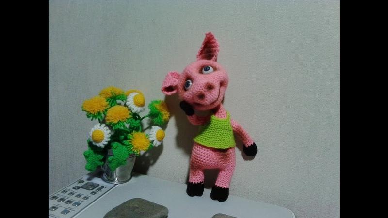 Прикольный Хрюша, ч.1. Cool Piggy, р.1. Amigurumi. Crochet. Амигуруми. Игрушки крючком.