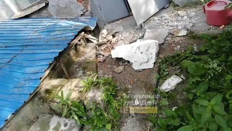В Златоусте обрушается крыша д с № 16 на ул Златоустовская 40 25 06 19