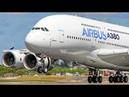 FARNBOROUGH Air Show 2018 warm up AIRBUS A380 near vertical Takeoff Airshow