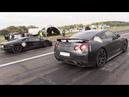 700HP Nissan GT R Gozilla vs Lamborghini Aventador vs Audi TT RS Plus GTX35
