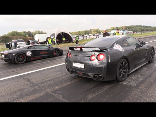 700HP Nissan GT-R Gozilla vs Lamborghini Aventador vs Audi TT RS Plus GTX35