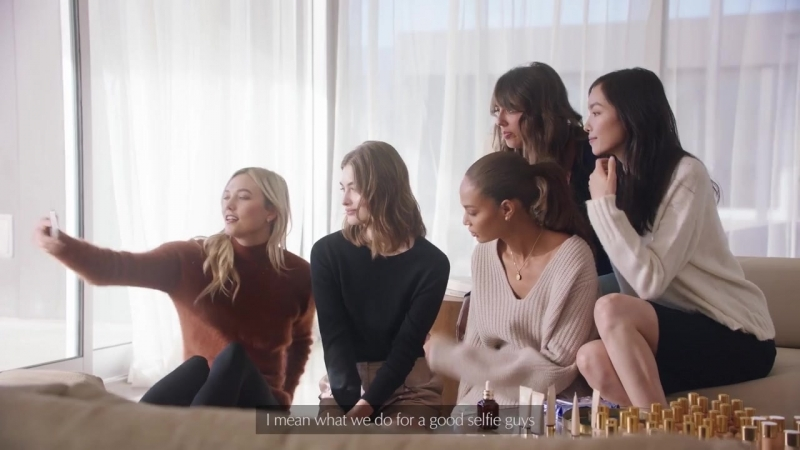 Estée Lauder beauty discuss with Grace Elizabeth Karlie Kloss Joan Smalls Fei Fei Sun and Violette F