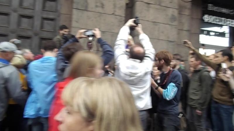 09.09.18. Петербург против пенсионной реформы. Жестокое подавление невинных людей.