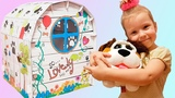 Princess Olga Play, Build and Decorate Playhouse for Toy Dog Good story for Kids