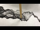 Video AI Robot paints its own moonscapes in traditional Chinese style