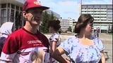 Street Interviews Russian USSR Trams Krasnoyarsk Siberia Russia 1994