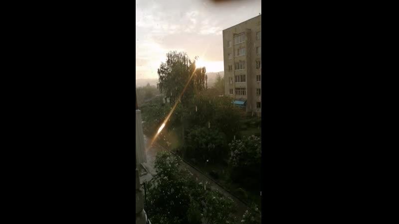 Гроза с солнцем