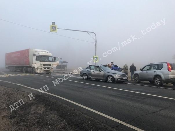 Несколько минут назад произошла авария на Т-образном перекрёстке(МО,поворот на Хотебцево).Девушка-во...