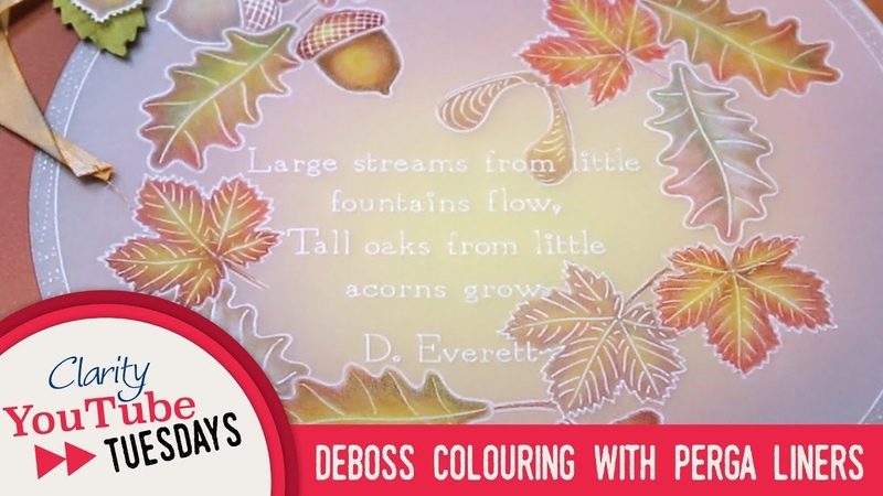 Deboss Colouring with Perga Liners