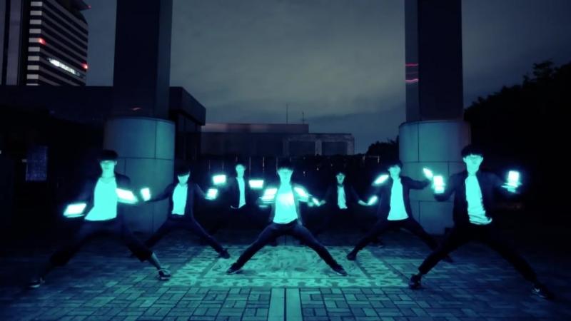 【君の名は。】夢灯籠 _ RADWIMPS ヲタ芸で表現してみた【北の打ち師達 × JKz】Dream lantern Light Dance