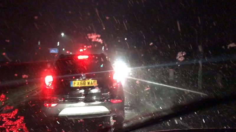 Первый снег в 2019 England 🏴 Lincoln