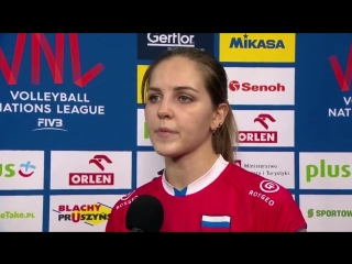 Russia's Natalia Malykh gave a great performance of 16 points in their 3-2 victory against Japan but wanted more out of @Voll