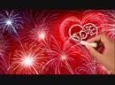 Рисованная видео-открытка «Салют Любви» от Студии дизайна «Катя-Кэт»