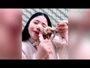 Vlogger screams after octopus 'attacked her face'