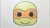 Dibujando a Michelangelo Tortugas Ninja - Drawing Cute Michelangelo Teenage Mutant Ninja Turtles