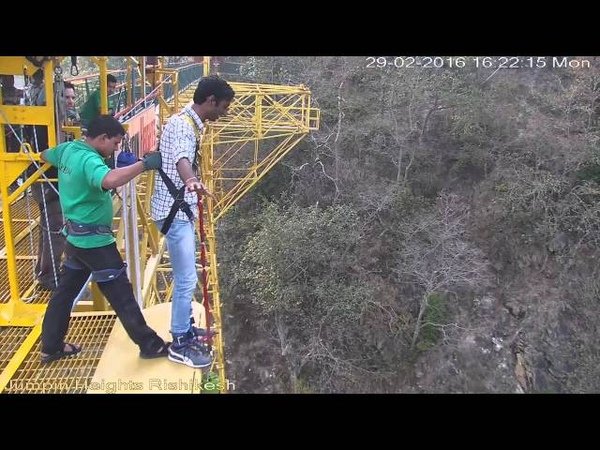 The Funny Bungee Jump in Rishikesh