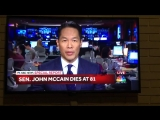 NBC solemnly announces death of Sen. John McCain