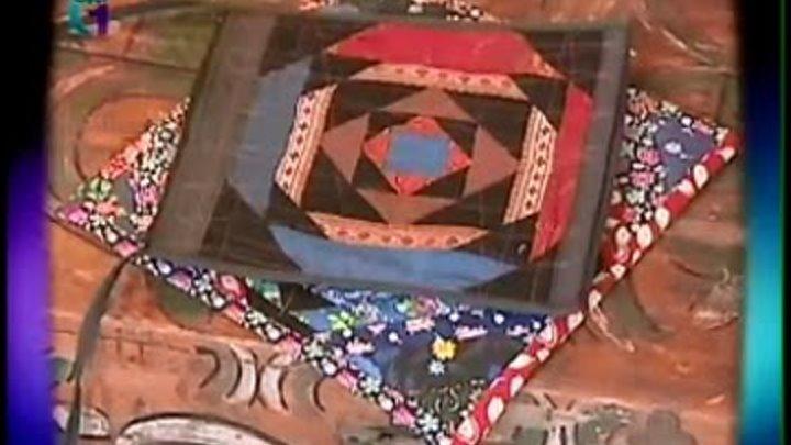 Лоскутное шитье блок ананас, текстильная бижутерия