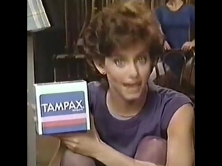 Courteney Cox and Tampax