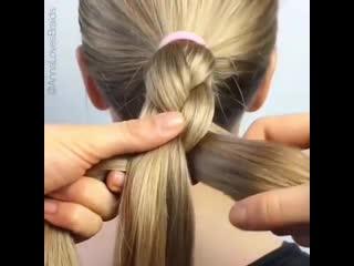 Вариант плетения косы.