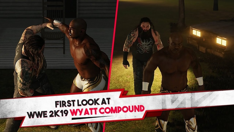 WWE 2K19 Wyatt Compound Backstage Brawl Gameplay (Exhibition)