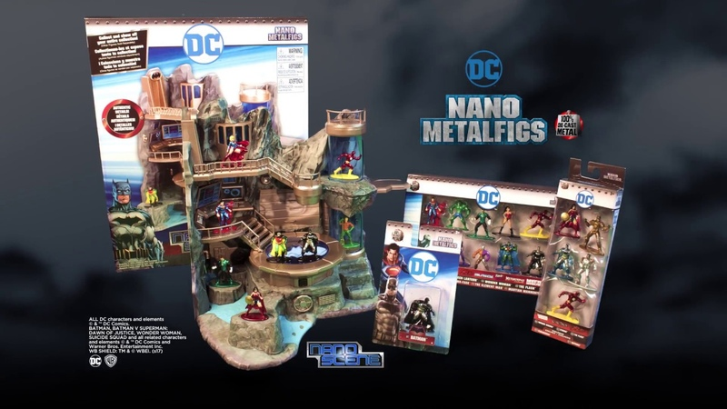 DC Nano Metalfigs and Nano Scene Batcave with Exclusive Batman and Robin Figures by Jada Toys