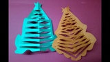 How To Make Origami 3D Paper Christmas Tree Making For Christmas Tutorial | Origami Christmas Crafts