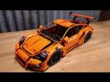 #LEGO #PORSCHE -VS- 120KM_H ROCKET SLED (Recreating the Mythbusters vanishing car