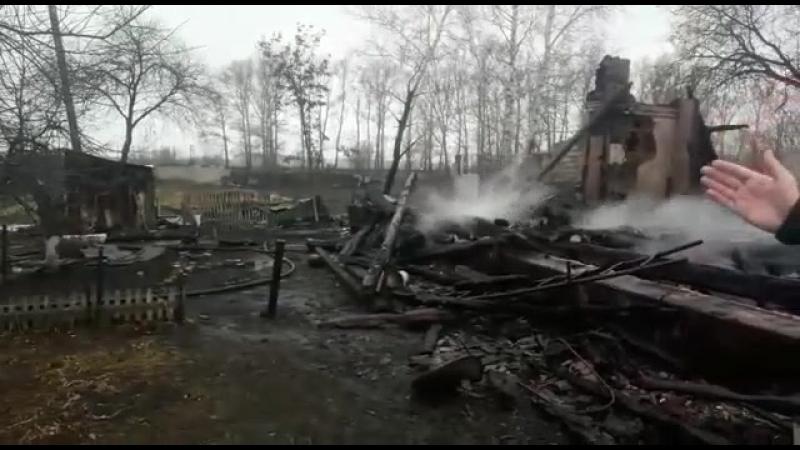 Сильный пожар произошел в поселке Кубанка Калманского района