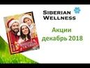 Акции и подарки декабря 2018 Siberian Wellness Сибирское здоровье