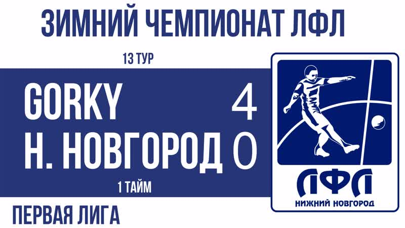 GORKY 4-0 Нижний Новгород (1 тайм)