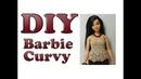 Diy Blusa com ponto leque em crochê para Barbie Curvy