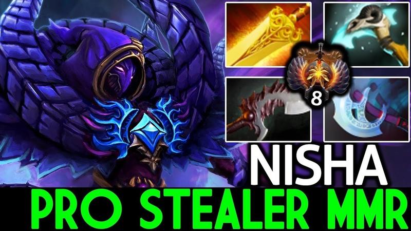 Nisha [Spectre] Pro Stealer MMR TryHard Smurf Top-8 7.19 Dota 2