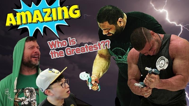 세계 팔씨름 챔피언들의 말도 안 되는 악력 이거 실화야 Grip Strength of World Armwrestling Champions