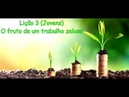 Lição 3 Jovens O fruto de um trabalho zeloso