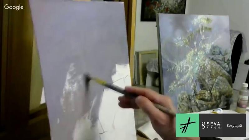 Александр Маранов Картина в технике Сияние Звенящий кедр