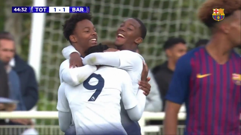 HIGHLIGHTS YOUTH LEAGUE Tottenham FC Barcelona 1 1