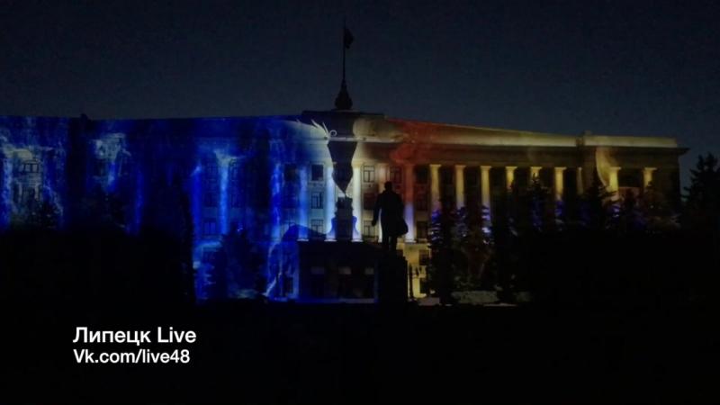 Световая проекция на Соборной площади
