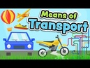 Means of transport in English for kids Vehicles vocabulary