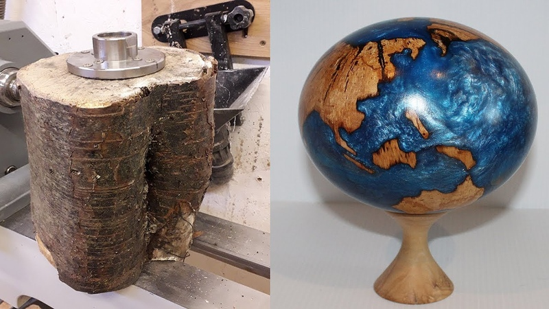 Woodturning - Log to Globe