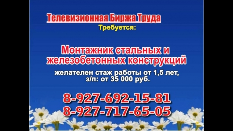 20 июня _06.20, 12.50_Работа в Самаре_Телевизионная Биржа Труда