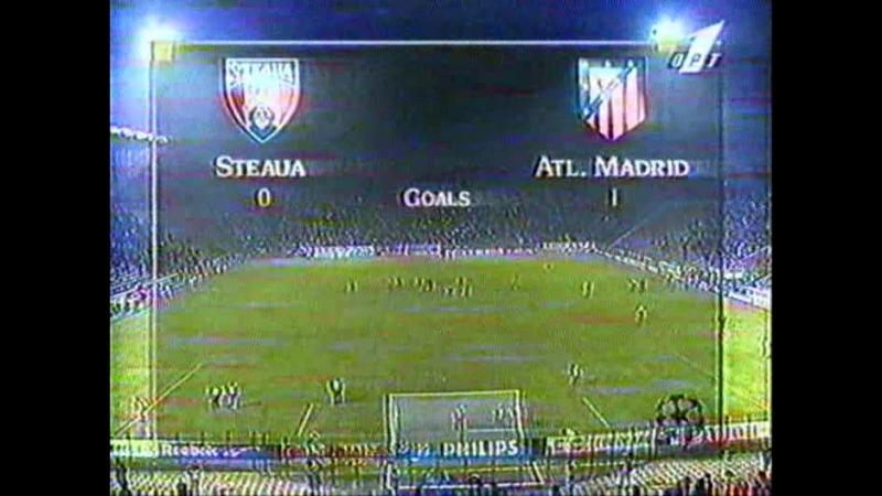 37 CL-1996/1997 Steaua Bucureşti - Atlético Madrid 1:1 (20.11.1996) HL