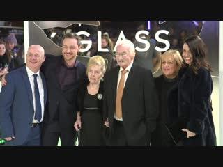 Glass premiere highlights- samuel l jackson, sarah paulson james mcavoy anya taylor-joy bruce willis3