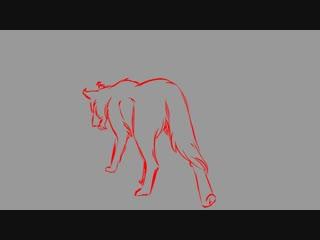 Hunter OC. Wolf Animation Test