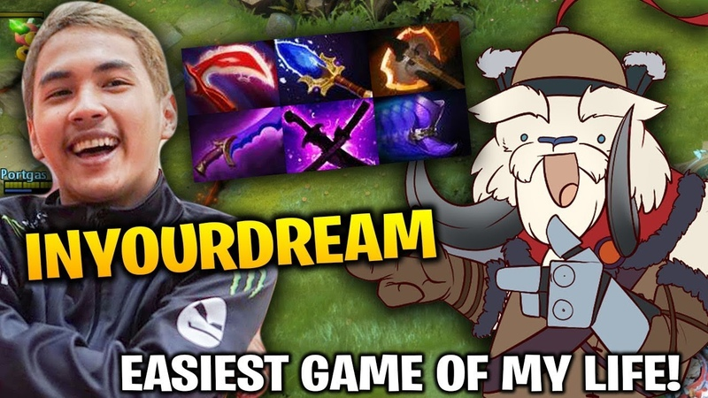 InYourdreaM Tusk Mid Battle Fury Aghanim Dota 2 7.17