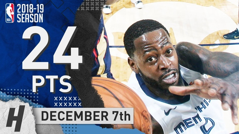 JaMychal Green Full Highlights Grizzlies vs Pelicans 2018.12.07 - 24 Pts, 8 Rebounds!
