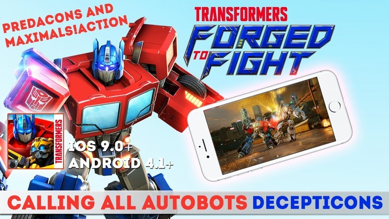 TRANSFORMERS: Forged to Fight - Gameplay iOS. New Mobile Game
